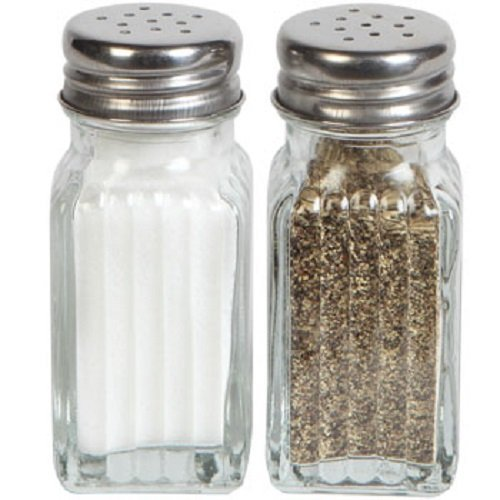 1 X Glass Salt & Pepper Shaker Set by Greenbrier
