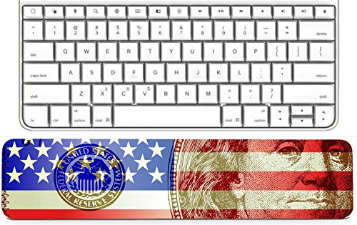 MSD Keyboard Wrist Rest Pad Long Extended Arm Supported Mousepad IMAGE ID: 11125653 Garden - Flag Garden Ms