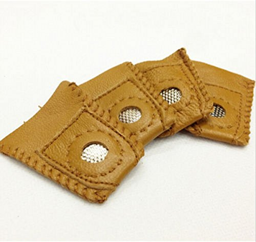 CHENGYIDA 4- PACK Practical hard-wearing leather coin thimble cover sewing quilting by CHENGYIDA