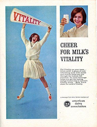 1960's Vintage American Dairy Association for Milk Magazine Ad -