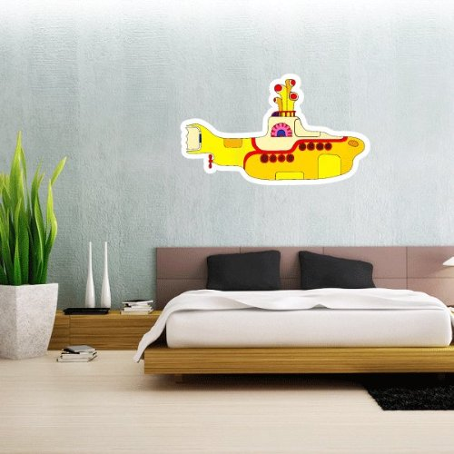 """Price comparison product image The Beatles Yellow Submarine Wall Graphic Decal Sticker 25"""" x 15"""""""