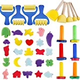 YGDZ Top Quality Early Learning Mini Flower Sponge Painting Brushes Craft Brushes Set for Kids Shipping by FBA