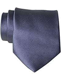 New Polyester Textile Men's Neckties Solid Color Neck Ties for Men