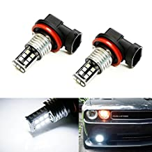 iJDMTOY® Xenon White 15-SMD High Power H11 H8 LED Bulbs For Fog Lights Driving Lamps