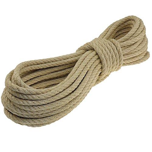 Hanfseil Seil 8mm 10m 4-litzig gedreht
