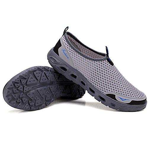 Eagsouni® Unisex-adulto Malla transpirable/Zapatos del ocio/Peso ligero transpirables zapatillas #1Gris