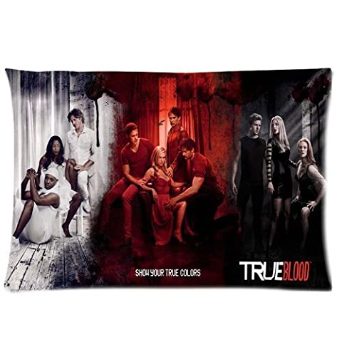 TV Series True Blood season 7 Poster Custom Zippered Soft Pillowslips Pillow Cases Standard Size 20x30 Inches (Twin (True Blood Gifts)