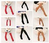 Cartoon Knee-high Long Socks Cable-knit School