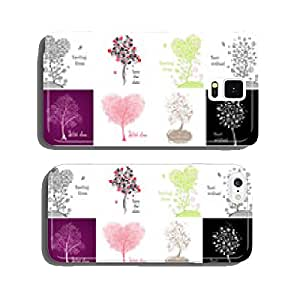 Decorative cards with beautiful tree cell phone cover case iPhone5