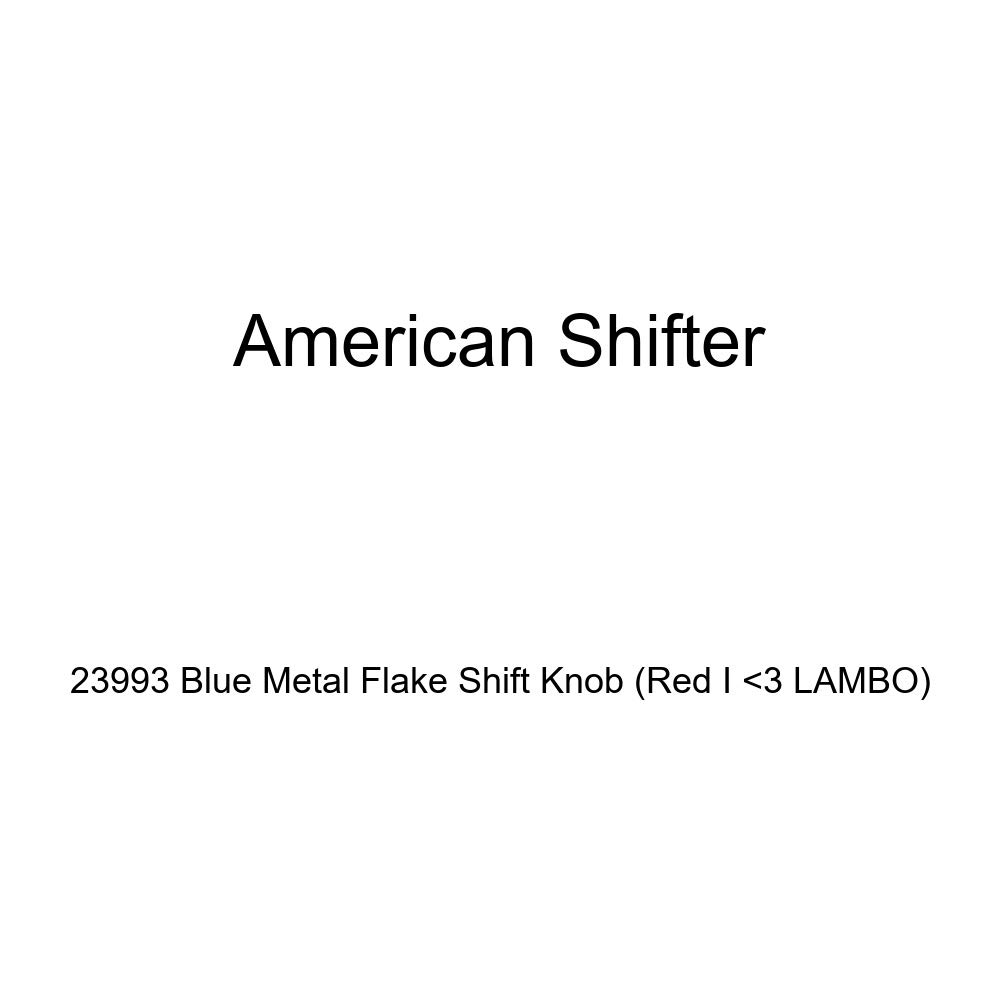 American Shifter 23993 Blue Metal Flake Shift Knob Red I 3 Lambo