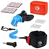 CamKix Surf Mouth Mount Kit for GoPro Hero 4: Black, Silver, Hero, Hero +, Hero LCD+, 3+, 3, 2, 1 - Handsfree Solution for Water Action Sports - Breathable Vents - Arm Strap with Coiled Cord - Floater