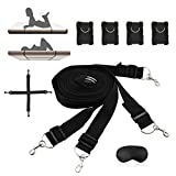 Bed Restraints, Sexcity Under Bed Restraints Bondage with Eye Mask Standard Mattress Size Bed Restraints Bondage Restraints with Cuffs for Ankles and Wrists with Adjustable Straps for Romantic Couple