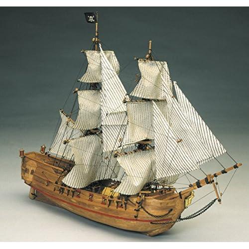 MANTOUE modèles noire Falke Pirates 1/100TH échelle modèle bateau Kit 768