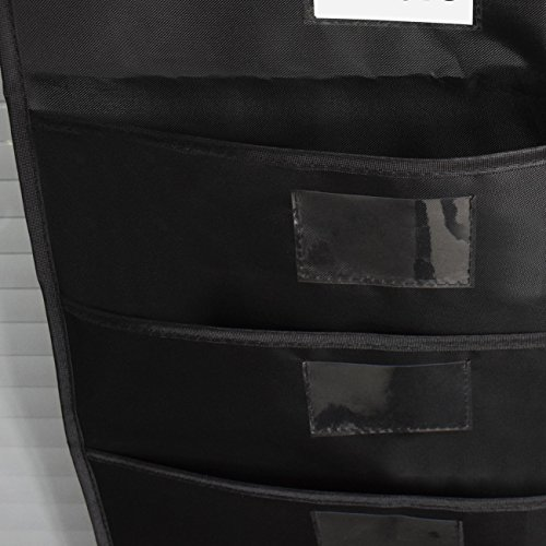 Homyfort Collapsible Clothes Laundry Hamper, Laundry Basket 2 Section Dark Light with Leather Handles, Foldable Large Double Bag Easily Transport,Grey Linen with Pattern
