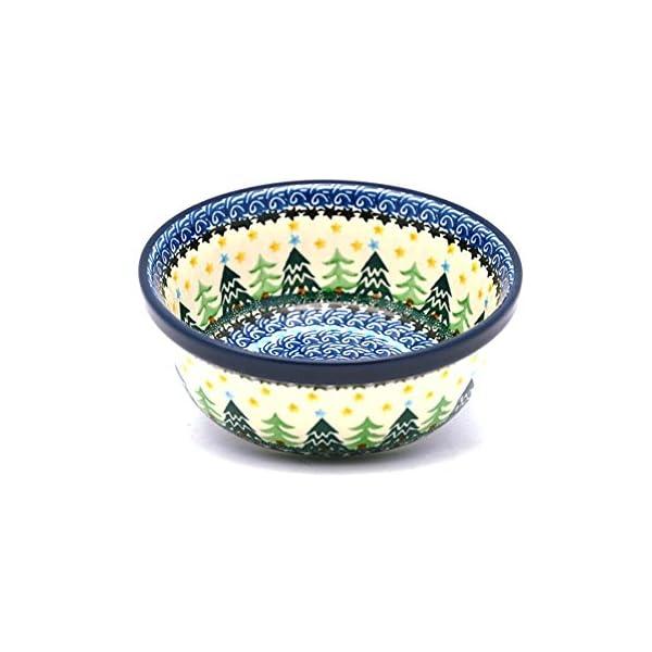 Polish Pottery Bowl – Soup and Salad – Christmas Trees