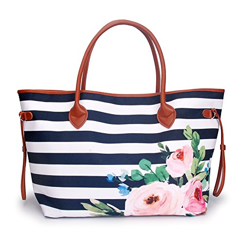 Tote handbag Canvas Casual Tote Bag with Polyester Linning Sports Bag (Monogrammed Canvas Handbag)