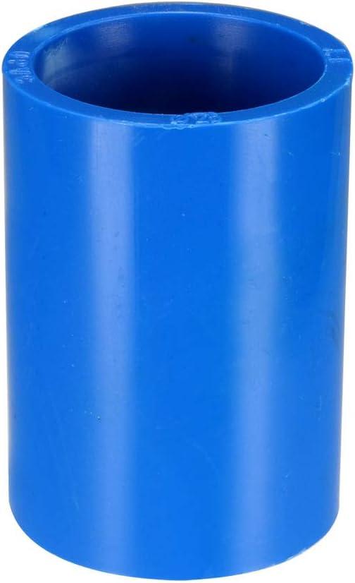 sourcing map Adaptador de acoplamiento de tubo de pvc recto de 20 mm conector azul 5 piezas