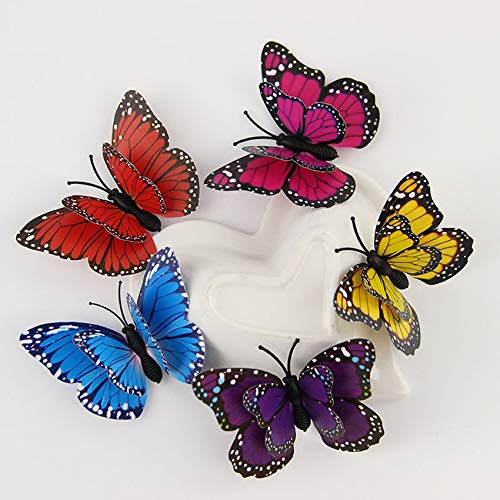 12 PCS 3D Wall Stickers Butterfly Fridge Magnet Wedding Decoration Home Decor