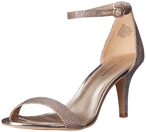 Bandolino Women's Madia Dress Sandal, Gold Glamour, 8 M US