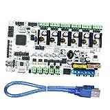 Fityle 3D Printer Motherboard Control Board for Rumba MPU Control Board 3Print Head White