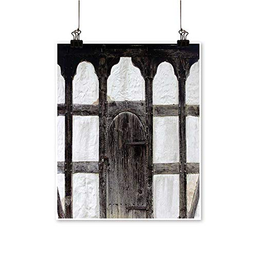 Artwork for Office Decorations Door The Farmhouse Facade Architectural Detail Timber Fram Charcoal Canvas Living Room,20