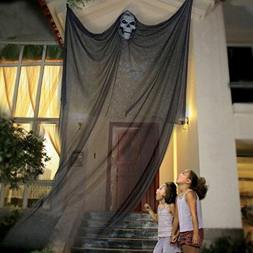 Halloween Decoration Hanging Ghost Scary Witch Curtain For