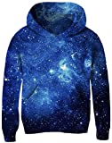 UNICOMIDEA Kid\s Sweatshirt Comfy Pullover Novelty Pattern Sloth Sweater Magical Galaxy Tops with Fleece Plush Lining 6-7 Years Old