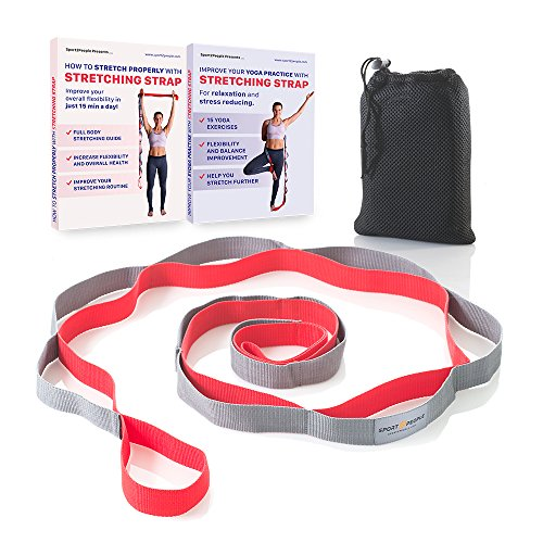 Sport2People Yoga Strap for Stretching and Rehabilitation– Rehab Stretch Band with 12 Loops to Improve Your Flexibility - Physical Therapy Equipment