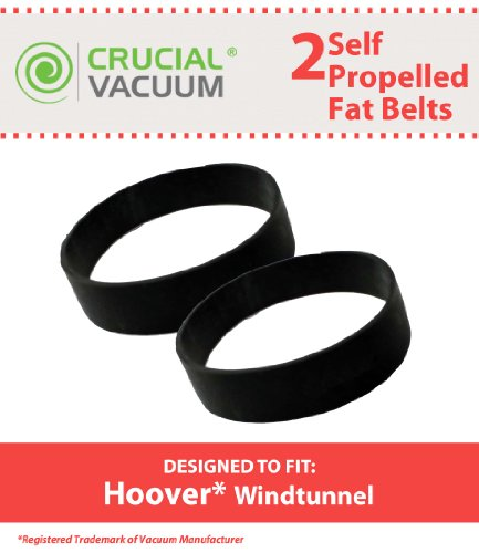 2 Replacements for Hoover WindTunnel Self Propelled Fat Drive Belts, Compatible With Part # 38528035, by Think (Self Propelled Belt)