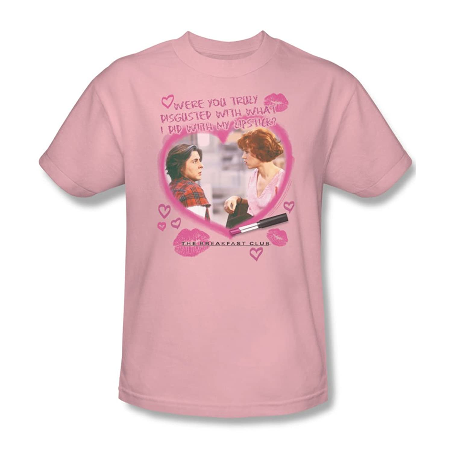 Breakfast Club - Mens Lipstick T-Shirt In Pink