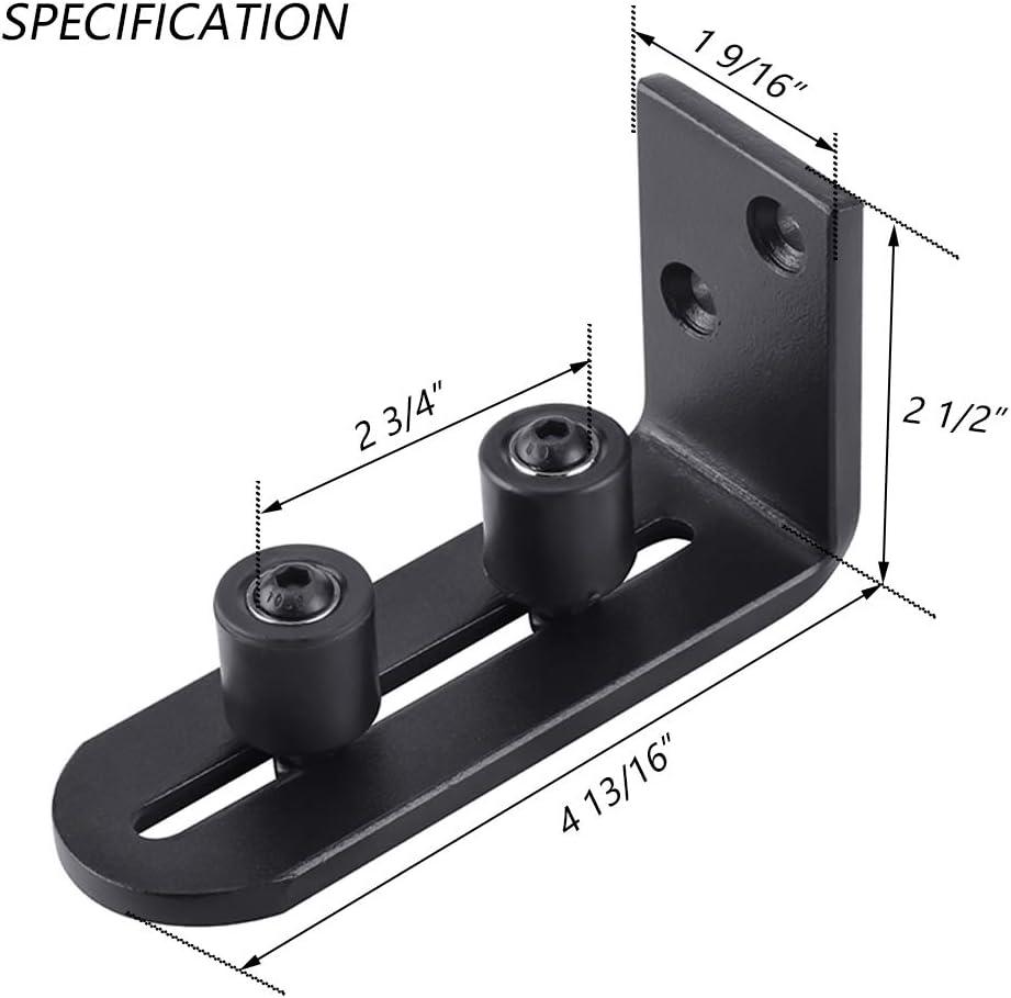 robust f/ür alle T/ürgr/ö/ßen Bodenf/ührung f/ür Schiebet/üren verstellbare Rollen 2 St/ück b/ündiges Design