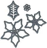 Darice 2014-38 Die Cut 3 Piece Poinsettia Set Paper Craft Supply