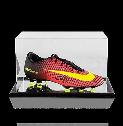 half off 5a98f 525ef Eden Hazard Autographed Signed Orange and Black Nike ...