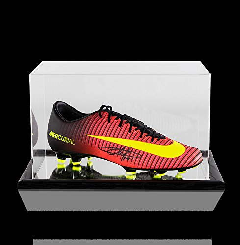 ba09a9526 Eden Hazard Autographed Signed Orange and Black Nike Mercurial Boot In  Acrylic Display Case - Certified Authentic Soccer Signature at Amazon's  Sports ...
