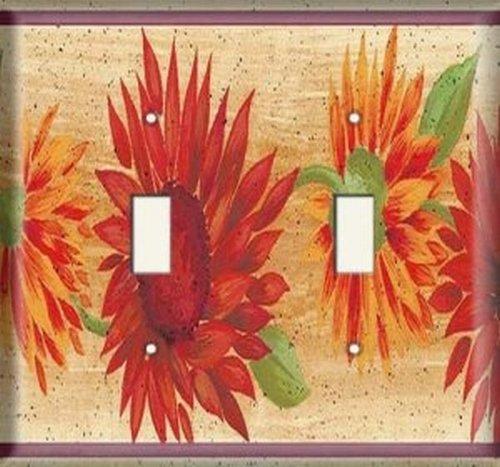 Double Light Switchplate Cover - Desert Flower