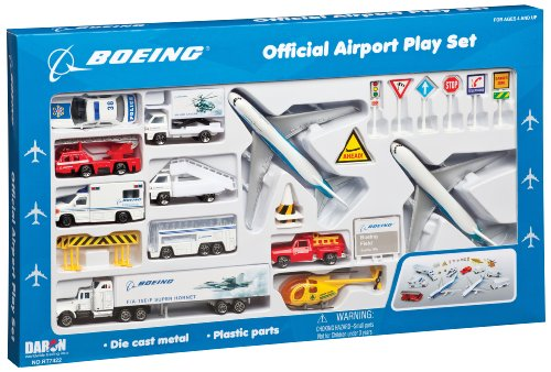 - Daron Boeing Aircraft Playset 24-Piece