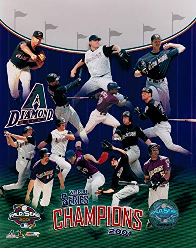 2001 World Series Champions Arizona Diamond Backs MLB Hologram 8x10 Color Glossy Photo in Mint Condition This Officially Licensed Collectible Photo comes in a BCW Acrylic Protective Top Loader!