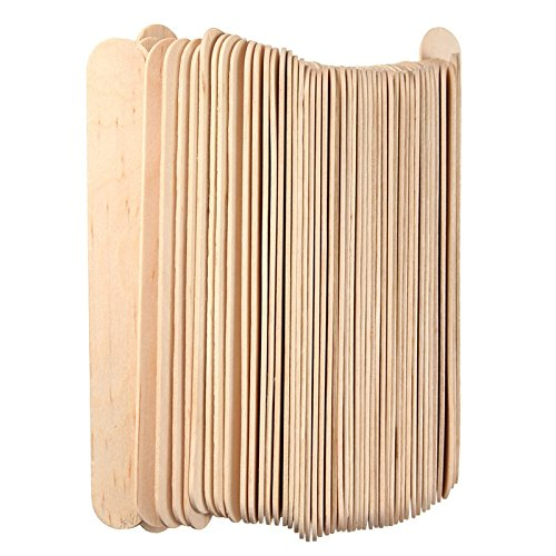 500 PC Tongue Depressors Non-STERILE Standard Size 6''x0.75'', Premium Natural Birch Wood Craft Sticks
