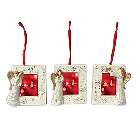st nicholas square christmas ornament frames set of 3 angel pictures frames