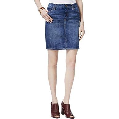 9cd803b65fa0 Tommy Hilfiger Womens Sand Blasted Medium Wash Mini Skirt Blue 10 at ...