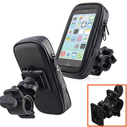 MAZIMARK--1xBlack Bike Bicycle Motorcycle Phone Case Bag Handlebar Mount Holder Waterproof by MAZIMARK