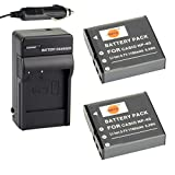 DSTE 2x NP-40 Battery + DC73 Travel and Car Charger Adapter for Casio EX-FC100 FC150 FC160S Z400 PRO P505 P600 P700 ZOOM Z100 Z1000 Pentax XG-1 Camera as LB-060