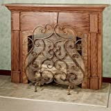 Touch of Class Castleton Fireplace Screen Antique Gold