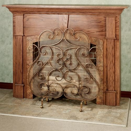 Antique Gold Fireplace Screen - Touch of Class Castleton Fireplace Screen Antique Gold