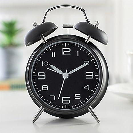 Komo Silencio minimalista moderno reloj de sobremesa modelo personalizado de moda y arte creativo con luz salón dormitorio cama metálica temporizado reloj ...