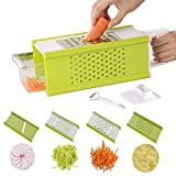 Cheap kilokelvin Vegetable Chopper Slicer – 5 in 1 Onion Food Veggie Chopper Slicer – Potato Tomato Choppers Slicers Cutter Dicer Grater – Mandoline Mandolin Slicers – Cleaning Kit And Peeler – Easy Prepari
