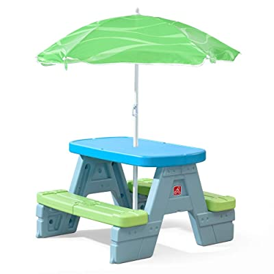 Step2 Sun & Shade Picnic Table with Umbrella: Toys & Games