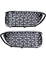 ZMing Store Auto BUIKSPIEREN Diamond Front Bumper Grille Overlay Kidney Racing Grilles Fit voor BMW 5 Serie G30 2017-2020 Auto Grill Style Vervanging