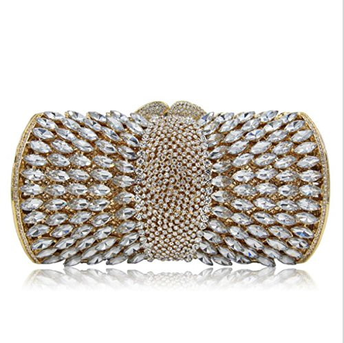 Crystal Luxury for Clubs Purse Bag Wedding Clutches Gold Women Evening Banquet Glitter Diamond Handbag Party qwpcSXI