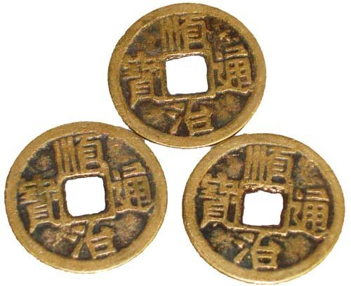 Chinese Feng Shui I Ching Divination Coins for Success